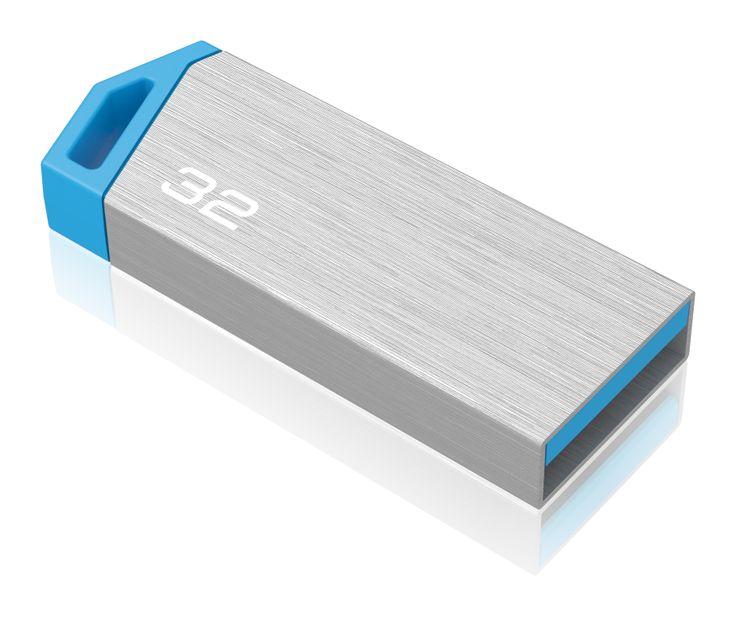 miniMetallic mini USB flash drive, back 3/4 - 32GB #EMTEC #FlashDrive