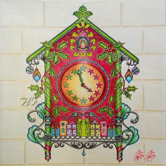 17 Best Images About Johannas Christmas Coloring Book On Pinterest