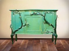Turning an old dresser into an eyecatcher