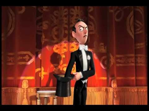 Presto --  2008 American Pixar film about a magician trying to perform a show with his uncooperative rabbit and is a gag-filled homage to classic cartoons such as Tom and Jerry and Looney Tunes. Presto was directed by veteran Pixar animator Doug Sweetland, in his directorial debut.
