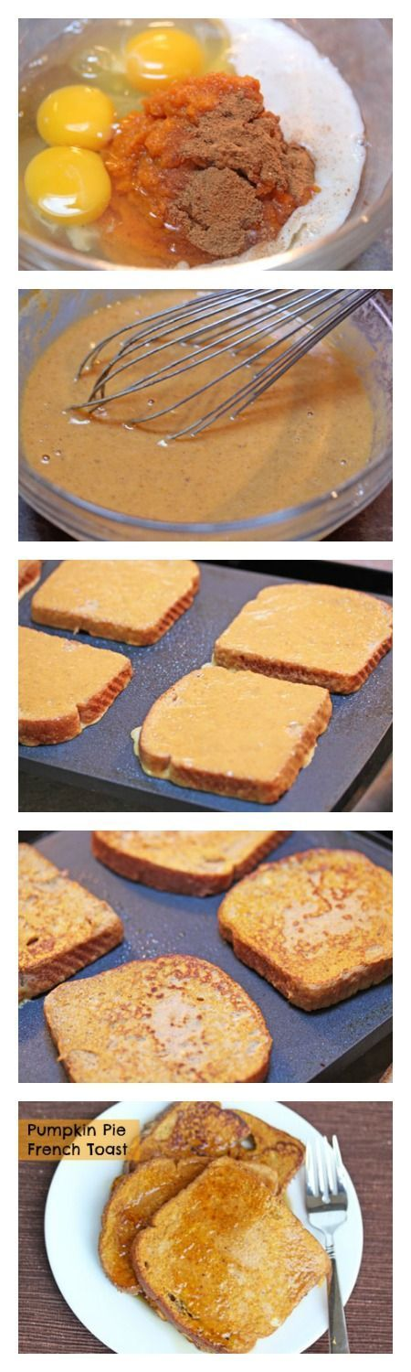 Perfect for the Fall season and so easy to make. Make sure you triple or quadruple this recipe for Pumpkin Pie French Toast. | 5DollarDinners.com
