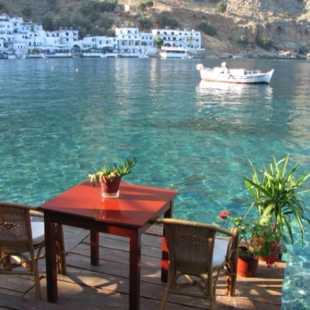 """Loutro, Crete, Greece.  We had a """"boat in and hike out"""" visit to this town."""