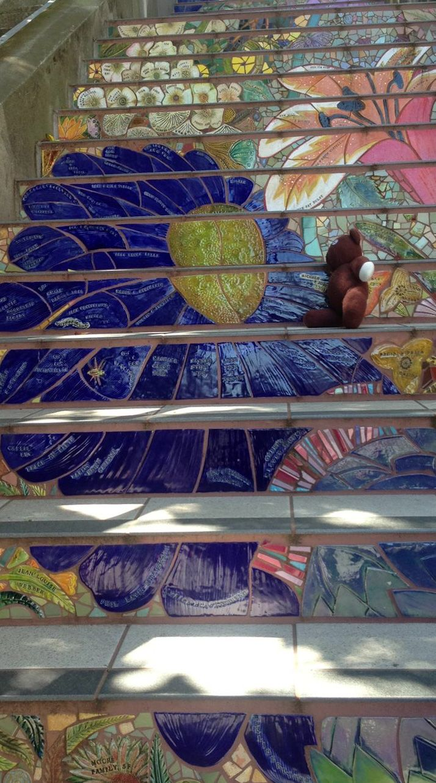 Hidden Garden Steps / Mosaic Steps (San Francisco, CA) 16th Av And Kirkham