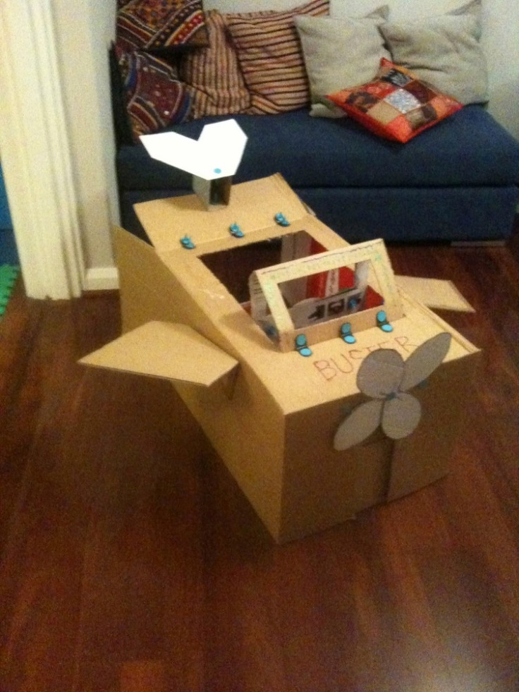 Cardboard Airplane this would be cool for