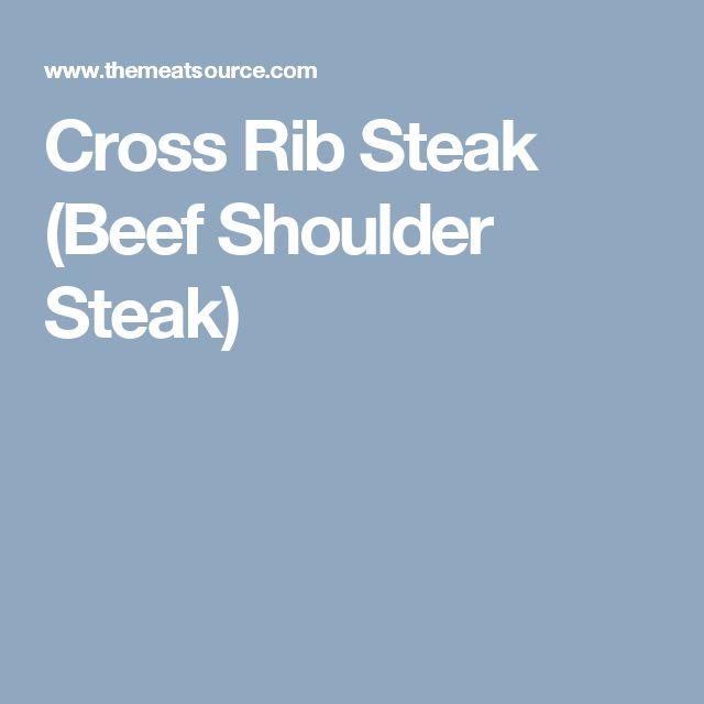 Cross Rib Steak (Beef Shoulder Steak)