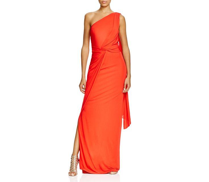 David Meister One Shoulder Twist Detail Gown | Bloomingdale\'s ...