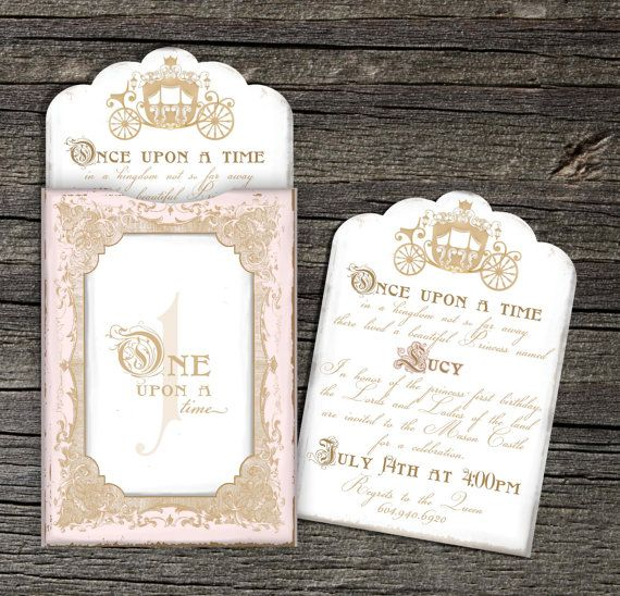 Once Upon a Time Invitation Set of 10 by theblueeggevents on Etsy, $22.50