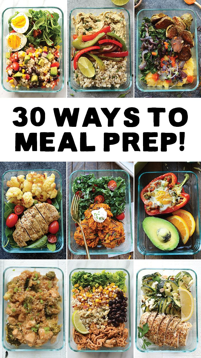 meal prep your way in to 2017 with 30 different ways to meal prep rh pinterest com