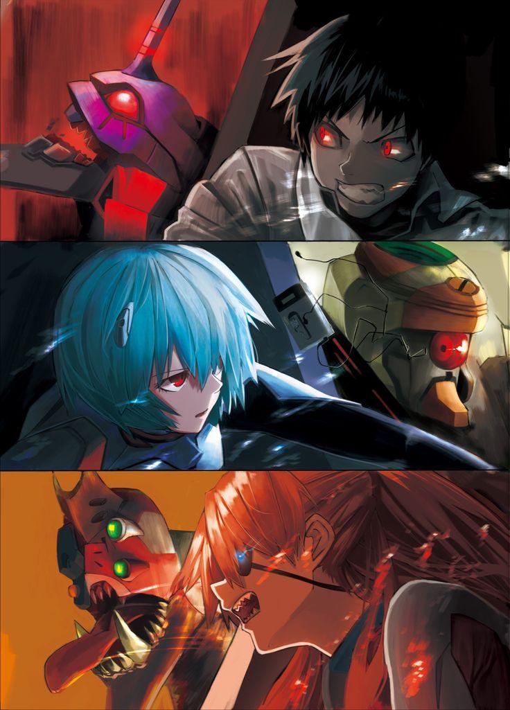 Evangelion 3.33 Rei, Shinji, and Asuka