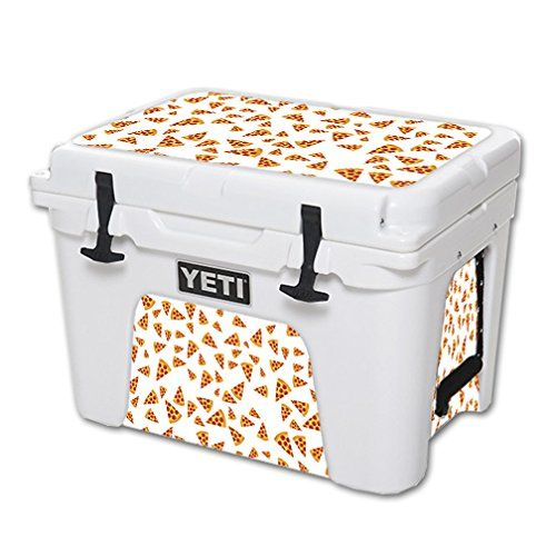 MightySkins Protective Vinyl Skin Decal for YETI Tundra 35 qt Cooler wrap cover sticker skins Body By Pizza -- More info could be found at the image url.(This is an Amazon affiliate link and I receive a commission for the sales)