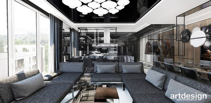 WELCOME TO THE JUNGLE | I | Wnętrza apartamentu | Salon w stylu nowoczesnym