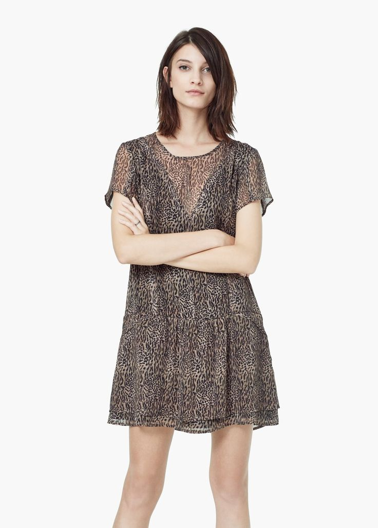 Leopard print dress - Dresses for Women | MANGO