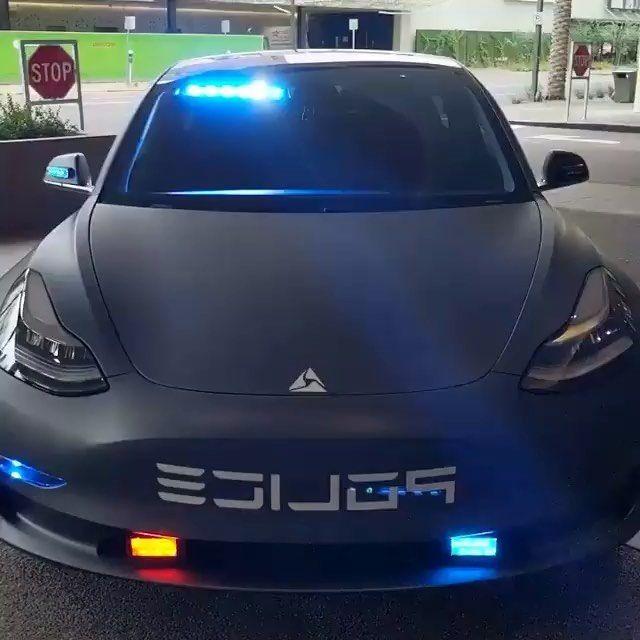 "Tesla NY on Instagram: ""#Tesla Model 3 #police car at"