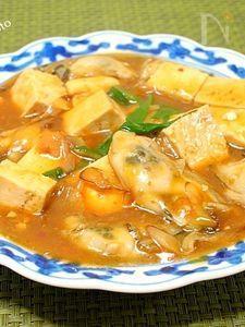 プリッと牡蠣入り麻婆豆腐  #魚 #豆腐 #煮物 #中華
