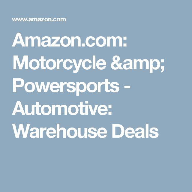 Amazon.com: Motorcycle & Powersports - Automotive: Warehouse Deals