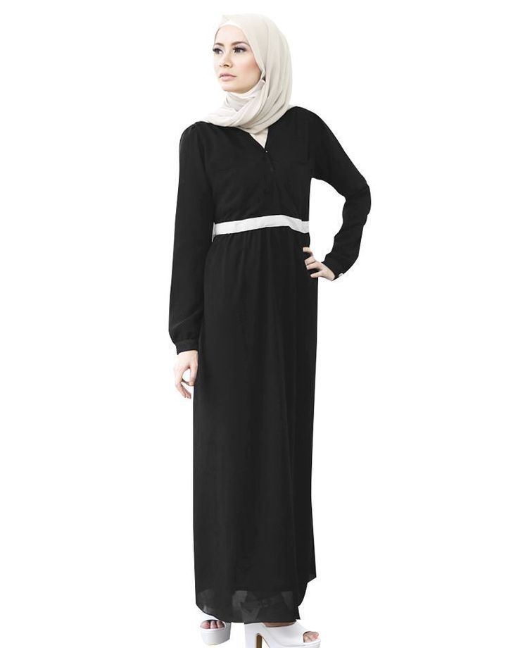 Mesya dress in black: Made of miss zara chiffon, good quality with full lining, not hot. Gathers at the back waist so it's stretchable.  Hidden zip in front and nursing-friendly.