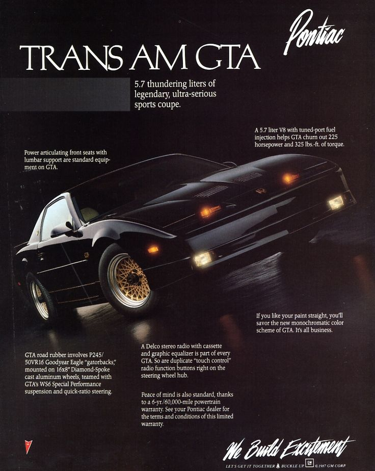pontiac firebird trans am gta 1989