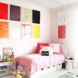 Playful and pretty - we love Jenna Fischer's daughter's room..    via @TheGlow