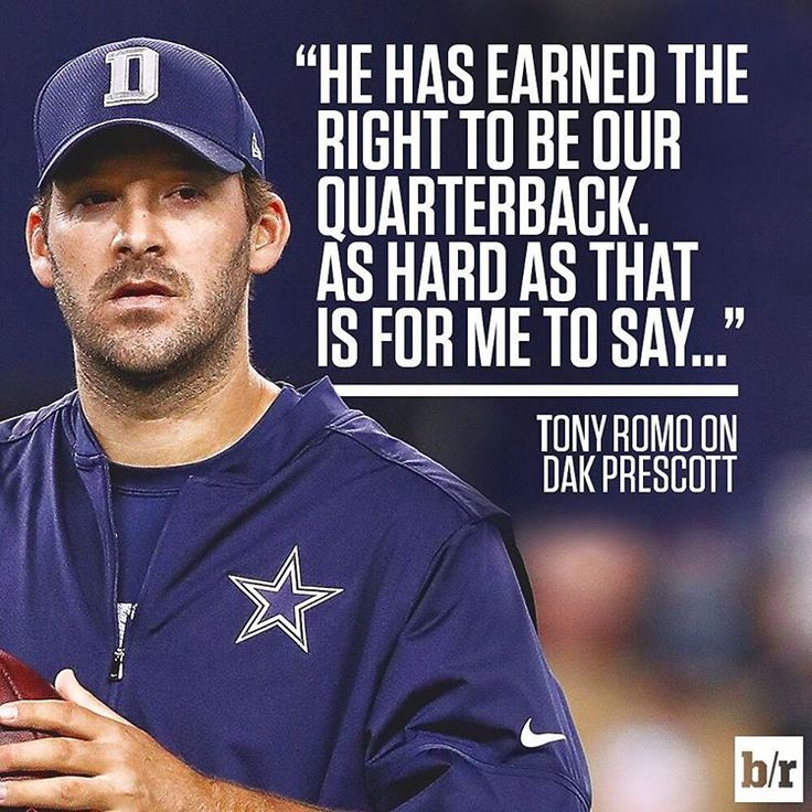 Tony Romo. Respect.                                                                                                                                                                                 More