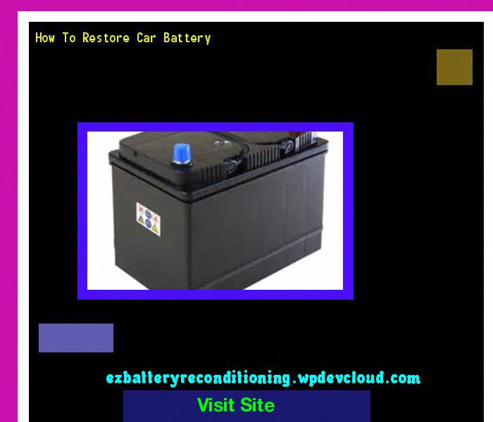 how to restore car battery 144212 recondition your old batteries rh pinterest com