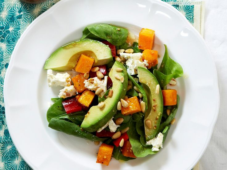 Roast pumpkin, spinach and feta salad, pumpkin recipe, brought to you by Woman's Day