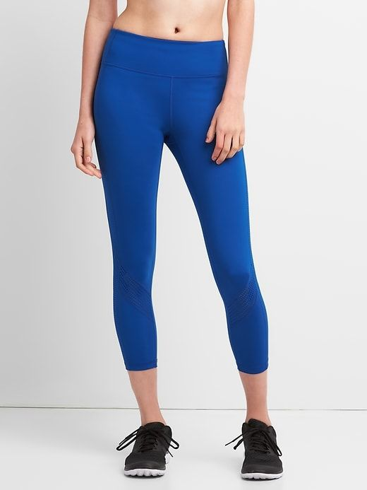6497265e49ed2 Gap Womens Gapfit Gfast 7/8 Leggings In Blackout Technology Brilliant Blue