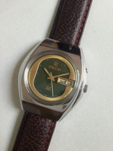 Automatic Ricoh Golden And Green Color Dial Day Date Mens Wrist Watch *@*