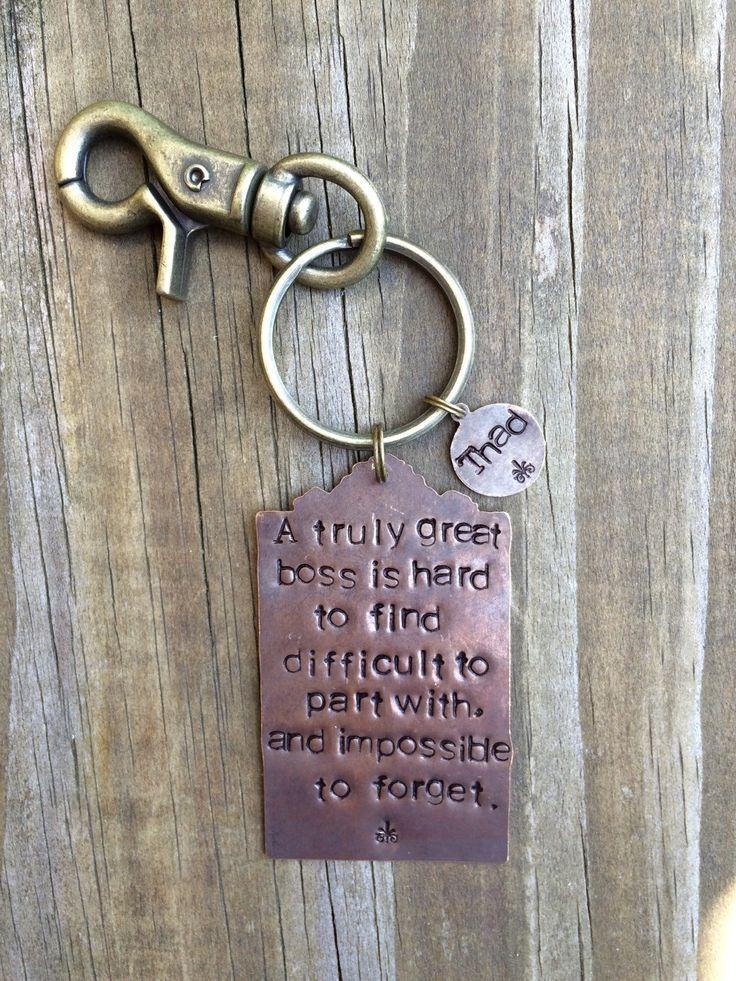 Retirement Key Chain Gift for Boss Mentor