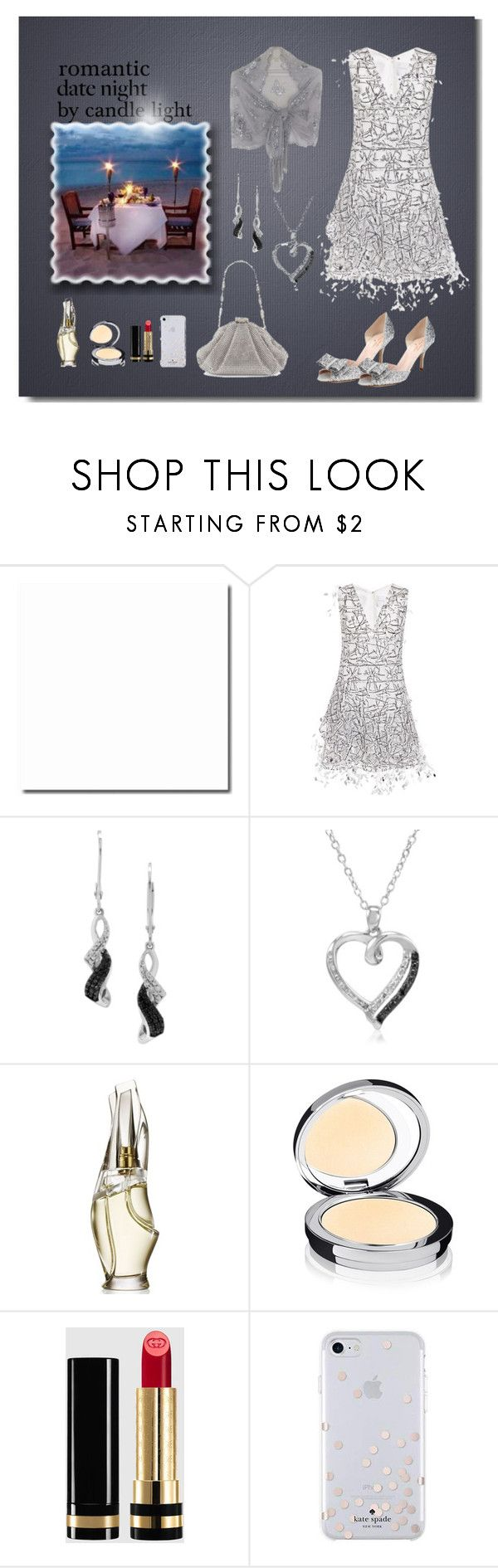 """""""Candle light dinner"""" by leaff88 ❤ liked on Polyvore featuring Carolina Herrera, Amanda Rose Collection, Donna Karan, Rodial, Gucci, Kate Spade and summerdatenight"""