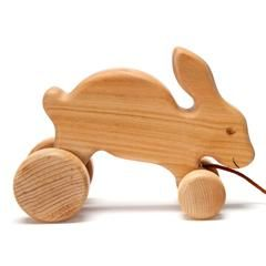 hopping bunny pull toy
