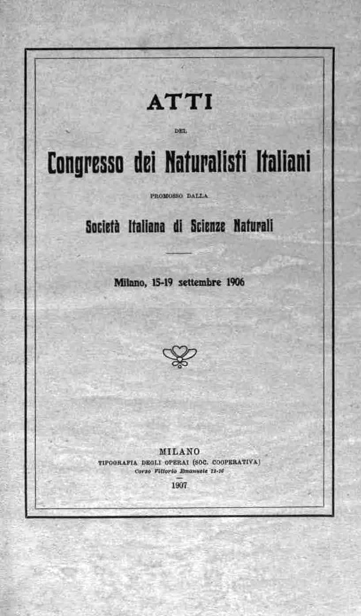 Societá Italiana di Scienze Naturali