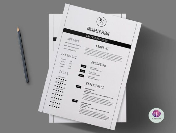 17 best images about chic modern resume cv templates on