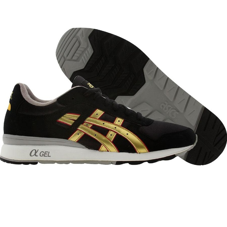 asics black and gold