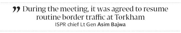 Torkham border reopens after four days - The Express Tribune