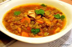 Supa de linte cu pui si coriandru