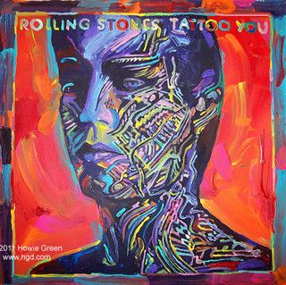rolling stones album tattoo painting painted cool