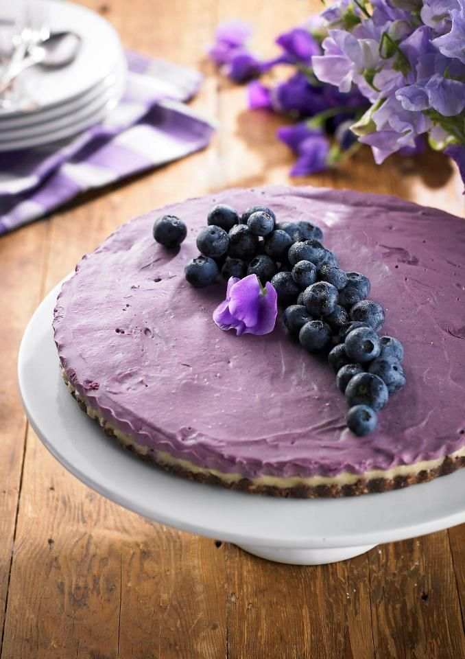 White Chocolate and Blueberry Cake, Dr Libby Real Food Chef - seed + nut base with blueberry filling