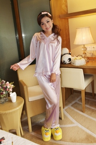 #Women's V-neck Embroidery Pajama...    like pin or repin