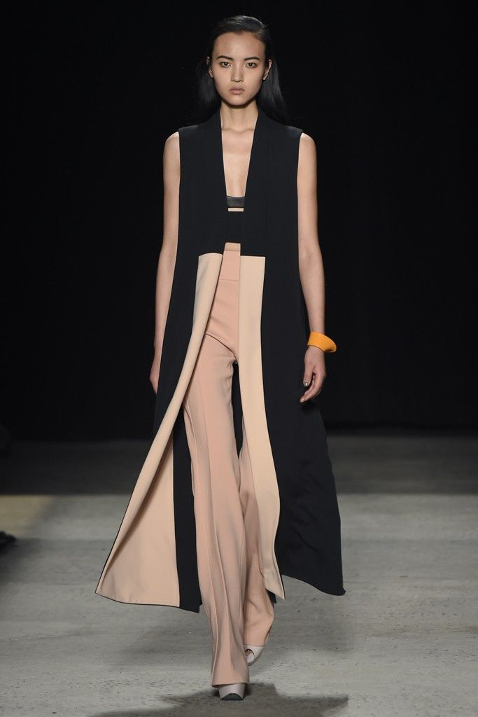 It would have been nearly impossible to tell that Narciso Rodriguez's fall collection was largely inspired by Maharaja without hearing it from the designer himself.  [Photo by Giovanni Giannoni]