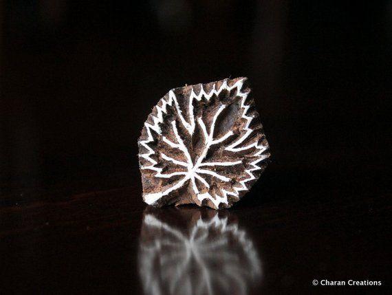 Soap stamp, ceramic stamp, textile stamp, Indian wooden stamp, Tjaps-Tiny Leaf   – Products