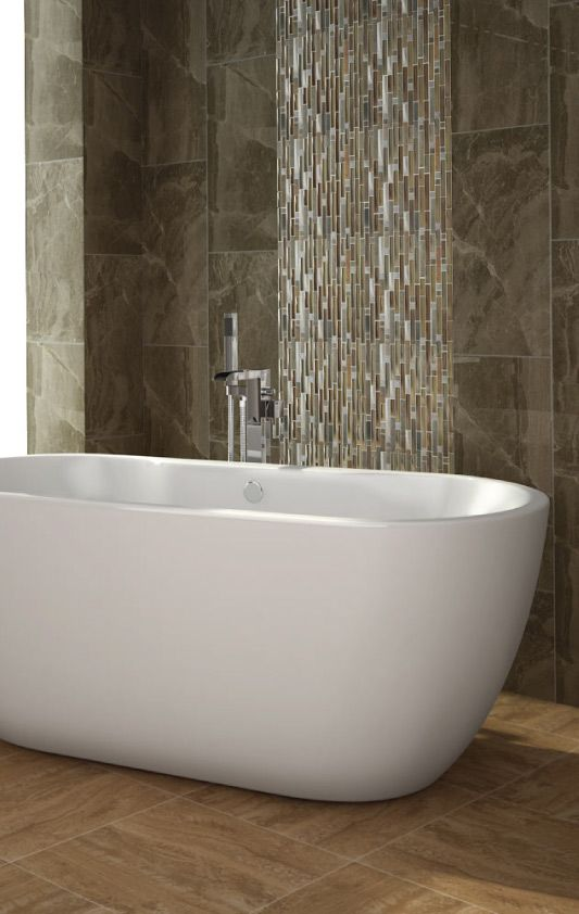 Pictures In Gallery Create a dramatic feature in your bathroom with mosaic bathroom wall tiles
