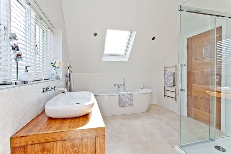 As part of a whole-house renovation project, Erica and Andy Job decided to open up their loft to create their dream bathroom