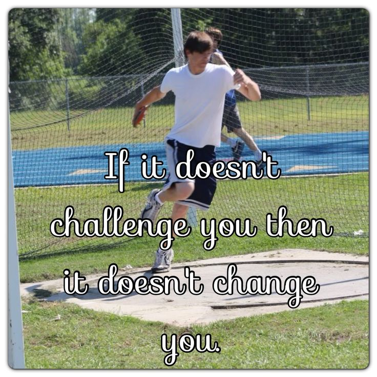 Track & field Discus Challenge yourself