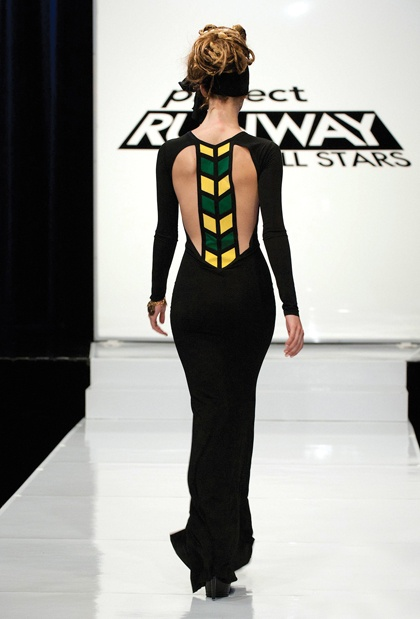 Love this dress Mondo Guerra's Jamaican Flag inspired dress #Project Runway All Stars