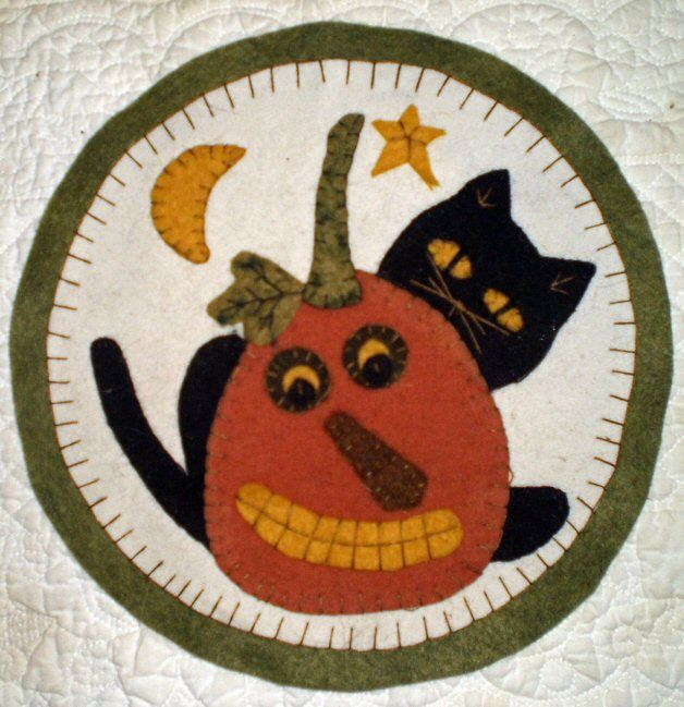 Boo Cat And Jack Penny Rug.