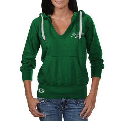 Touch by Alyssa Milano Green Bay Packers Ladies In the Bleachers Pullover Hoodie Sweatshirt - Green #Fanatics