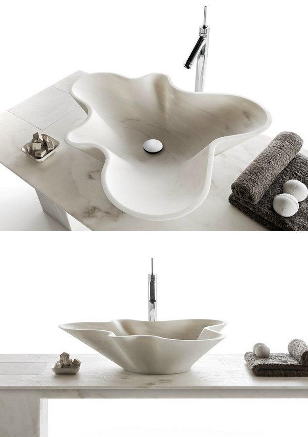 Countertop marble washbasin BOWL N1 by Kreoo