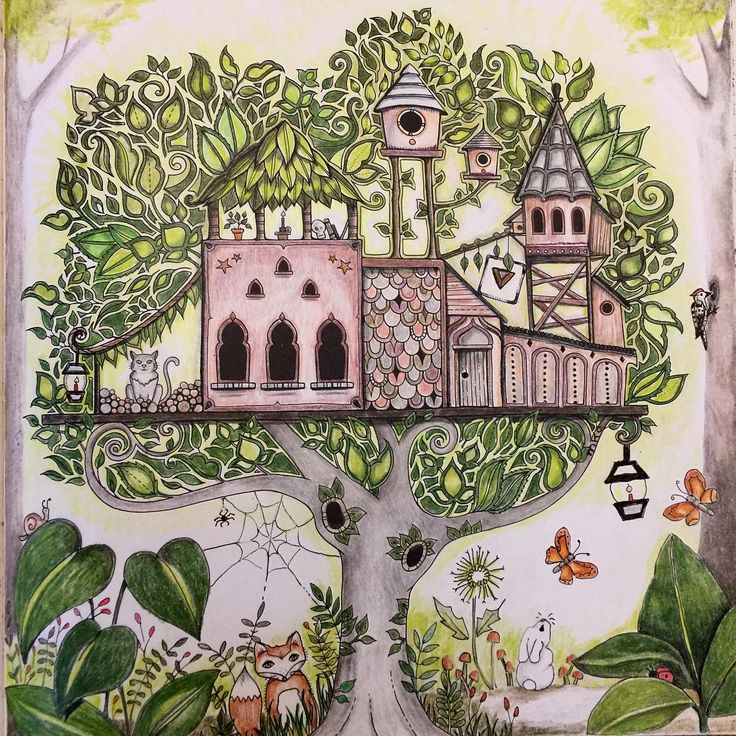 75 Best Enchanted Forest Coloring Book Images On Pinterest
