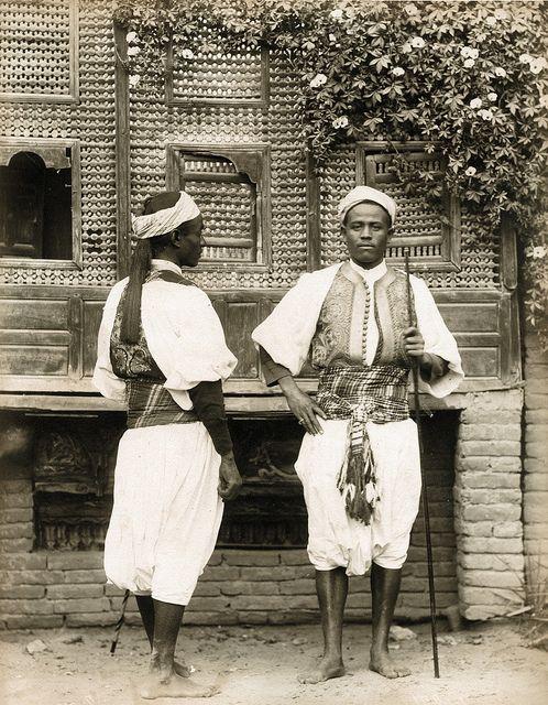 Egyptian sentries,late-Ottoman era, ca 1880.  Photographer: Pascal Sebah .