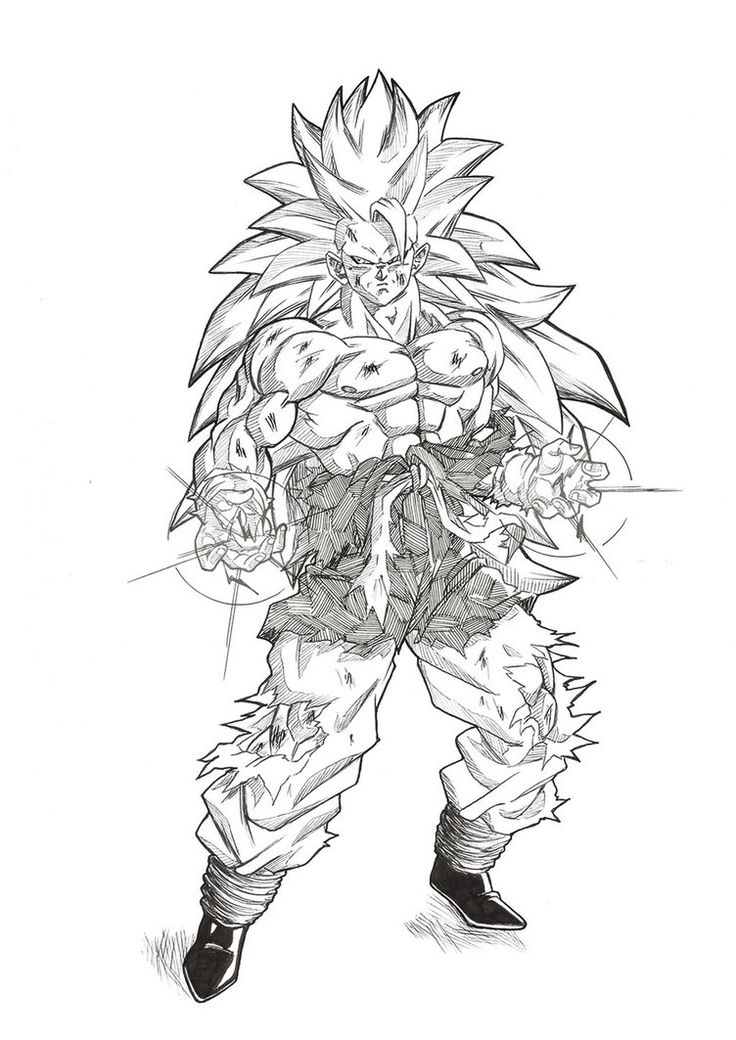 Hello everyone, long time no see Here is a work based on the excellent picture of Goku SSJ5 by Young Jijii. I turned him into the SJJ5 vision of I hope you'll like it